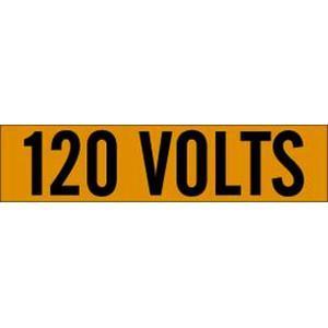 Brady 44104 Voltage Marker Cards, 120 Volts