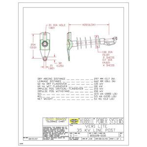 Ohio Brass 80S0280100 VERI-LITE SRP 35KV POLY INSULATOR CLAMP TOP