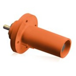 Leviton 17R21-O Male, Panel Receptacle, 90 Deg., 250-750 MCM,  Threaded Stud, Cam-Type, Orange