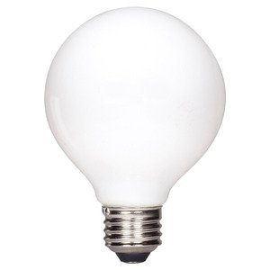 Satco S9827 4.5 watt G25 LED; Soft white finish; Medium base; 2700K; 430 lumens; 120 volts