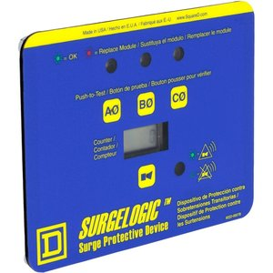 Square D TVS3DSPHC Surge Protection Accessory, TVSS 3PH, Display, Horizontal, Counter