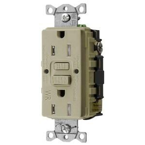 Hubbell-Bryant GFTWRST15I Tamper Resistant GFCI Receptacle, 15A, 125V, Ivory