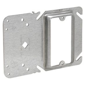 """Cooper Crouse-Hinds TP35000 Cover With Uni-Mount Bracket, 2-Gang, 1/2"""" Raised, Steel"""