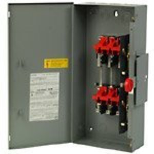 Eaton DT222UGK Safety Switch, 60A, 2P, 240VAC/250VDC, HD, Non-Fusible, NEMA 1