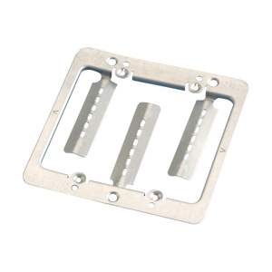nVent Caddy MPLS2 Mounting Bracket, 2-Gang, Low Voltage, Cut-In, Metallic