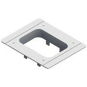"nVent Caddy SES40PFP Flush Adapter Plate, (H) 4.6 x (W) 5.7 x (D) 1.3"", Polycarbonate"