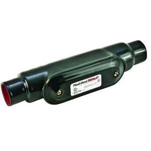 "Plasti-Bond PRC17 Conduit Body, Type: C, FM7, Size: 1/2"", Material: PVC Coated Iron"