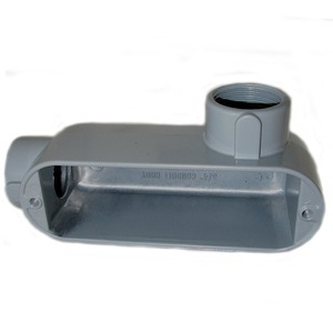 """Mulberry Metal 11821 1/2"""", Type LR, Die-Cast Aluminum Conduit Body"""