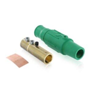 Leviton 17D24-G Female, Plug, Cam-Type, Double Set Screw, 350-500 MCM, Green
