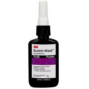 3M TL22-10ML Scotch-Weld Threadlocker, Purple, 10 mL Bottle