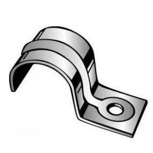 "Minerallac 110E One-Hole Strap, Jiffy Clip, Everdur, 5/16"""