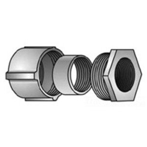 "Appleton TPC-75 Rigid Three-Piece Coupling, 3/4"", Threaded, Malleable"