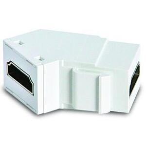 ON-Q WP1234-WH HDMI Coupler, Keystone Jack, ON-Q, Angled Back, White,
