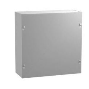 "Hammond Mfg CS664 Junction Box, NEMA 1, Screw Cover, 6 x 6 x 4"", Steel/Gray"