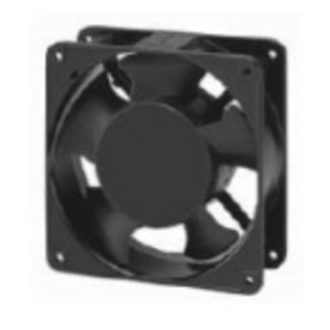 70225901 Compact Fan, 120 mm x 120 mm x 38 mm, 115V, 50/60Hz, Black