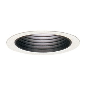 "Lightolier 2076 Baffle Trim, 3-3/4"", Black"