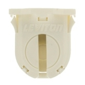 Leviton 23662-SWP Fluorescent Lampholder, Mini Base, Snap-In w/ Post Mounted