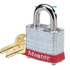 "Ideal 44-901 Padlock, Steel, 2"" Shackle, Blue"