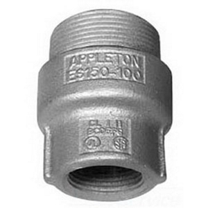 "Appleton ES400300 Sealing Hub, 4"" x 3"", Male/Female, Explosionproof, Malleable"