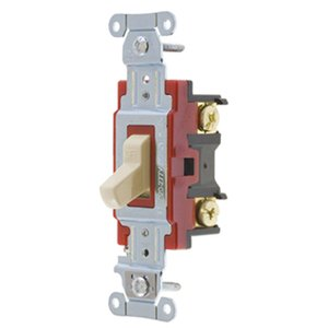 Hubbell-Kellems 1224I Four-Way Switch, Heavy Duty, 20A, Ivory