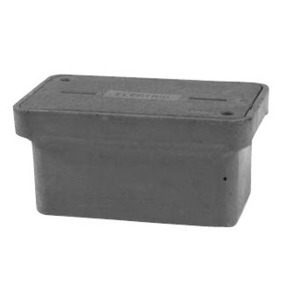 "Hubbell-Quazite PG2436BA18 Stackable Box, 24"" x 36"" x 18"", Open Base, Polymer Concrete"