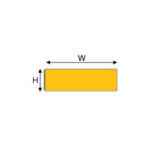 "Brady THTEP-176-593-.5YL Raised PanelLabel, Yellow, 1"" H x 3"" W"