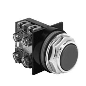 ABB CR104PBG10R1B Push Button, Flush Red Head, 1 NO Contact, 10A, 600V, Momentary
