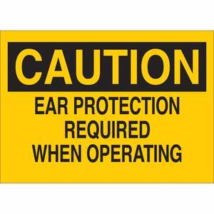 25460 EAR PROTECTION SIGN