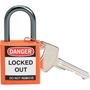 143154 COMPACT SAFETY PADLOCK ORANGE KD