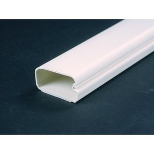 "Wiremold 2900-WH Non-Metallic Surface Raceway, One-Piece, Hinged, 1-1/2"" x 6', White"