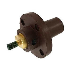 Leviton 17R22-H Female, Panel Receptacle, 90 Deg., 250-750 MCM, Threaded Stud, Cam-Type, Brown