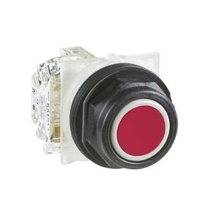 9001SKR1RH13 30MM PB RED FLUSH MOMENTARY