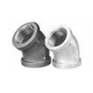 """Matco-Norca ZMBL4503 Pipe Elbow, 45°, 1/2"""", Black, Malleable Iron"""
