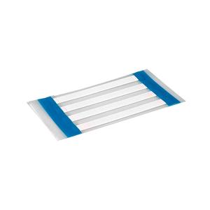 "HellermannTyton 553-50003 Heat Shrink Labels, .125"", 1-Sided, White, 1000/Box"