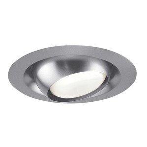 "Juno Lighting 229-SC Adjustable Eyeball Trim, Regressed, 6"", PAR30L/BR30, Satin Chrome"