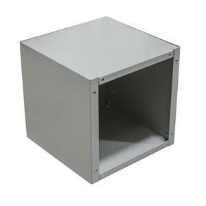 "Milbank 444-SC1-NK Junction Box, Screw Cover, NEMA 1, 4 x 4 x 4"", Steel/Gray"
