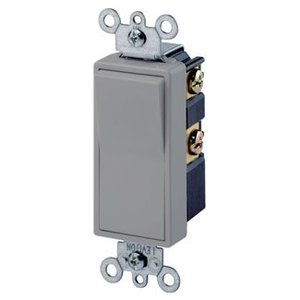 Leviton 5604-2GY 4-Way Decora Switch, 15A, 120/277V, Gray, Residential Grade