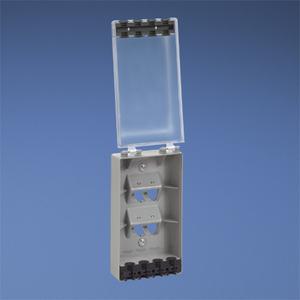 Panduit CFPWR4CL Faceplate, 4 Port, Water Resistant, Indu