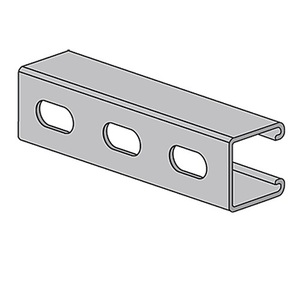 "Power-Utility Products 1320S10PG Channel - Elongated Holes, Steel, Pre-Galvanized, 1-5/8"" x 1-5/8"" x 10'"