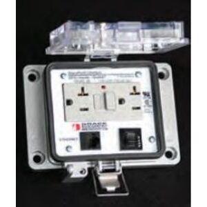 Grace Technologies P-R62-K3RF3 Programming Port, Cat6e, 15A, 120VAC GFCI, Size K, Type 4-IP65