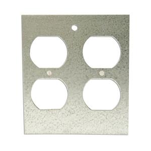 Wiremold DGT-2DP Panel Device Plate, 2-Gang, Device Type: Duplex Receptacle,Metallic