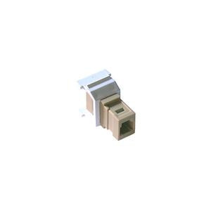 Lutron CON-1F-MTRJ-WH Fiber Jack, MT-RJ Feed-Through, White