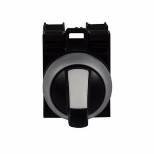 Eaton M22-WRK3-K20 22mm Selector Switch, Knob Type, Black/White, M22