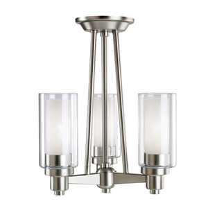 Kichler 3743NI SEMI FLUSH 3LT *** Discontinued ***