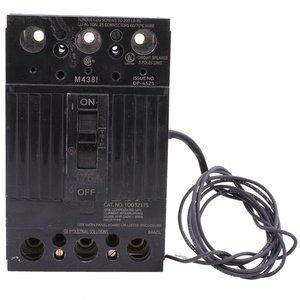 GE TQD32175ST1 Breaker, 175A, 240VAC, 3P, Lug In, Lug Out, Molded Case, Shunt Trip