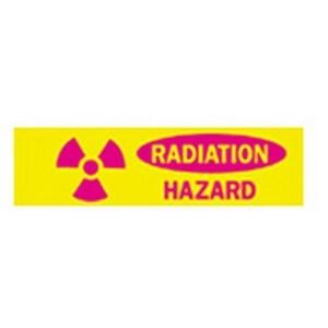 "Brady 88937 RADIATION Hazard Sign, Self Sticking, 3.5"" x 10"" Outdoor Use"