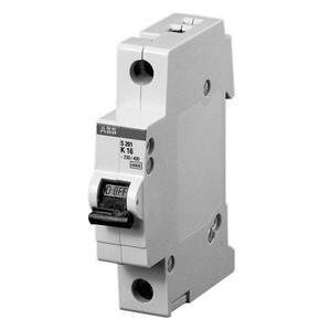 ABB S201-K4 Circuit Breaker, Miniature, DIN Rail Mount, 4A, 1P, 480Y/277VAC