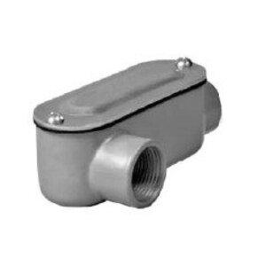 "Hubbell-Raco RLR100 Conduit Body, Type: LR, ""R"" Series, Size: 1"", Die Cast Aluminum"