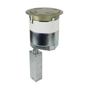 "Wiremold 6ATC2PAVBZ Poke-Thru, Recessed, Bronze, Diameter: 6"", Depth: 16-1/4"