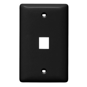 Hubbell-Premise NSP11BK PLATE WALL LABEL-LESS 1-G 1-PORT BK